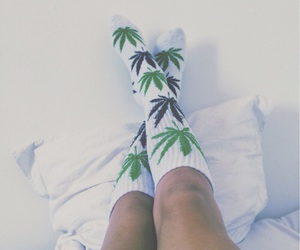 cannabis, girl, and outfit image