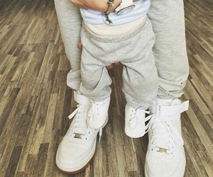 baby, shoes, and family image