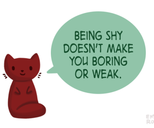 shy and quote image