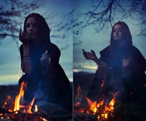 dark, fire, and fantasy image