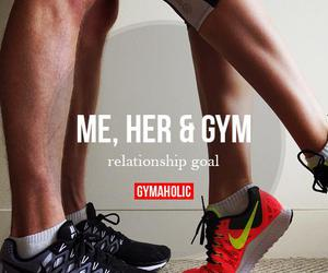 couple, gym, and Relationship image