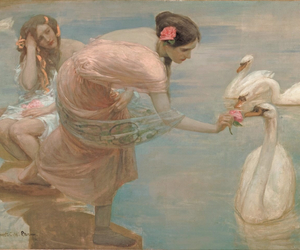 painting, art, and Swan image
