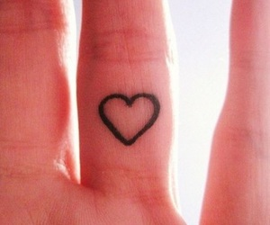 tattoo, heart, and fingers image