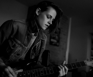 beautiful, black and white, and guitar image