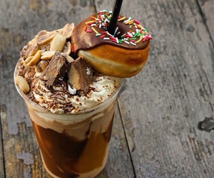 chocolate, delicious, and donut image