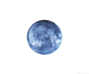 moon, blue, and art image