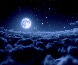 moon, clouds, and stars image