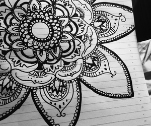 drawing and black;flowers image