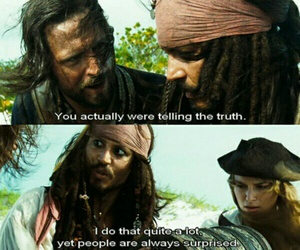 funny, truth, and pirates of the caribbean image