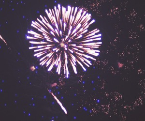fireworks, sky, and night image