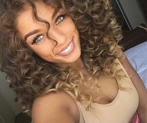 hair, curly, and eyes image
