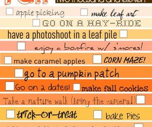 fall, autumn, and bucket list image