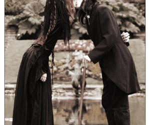 gothic, kiss, and couple image