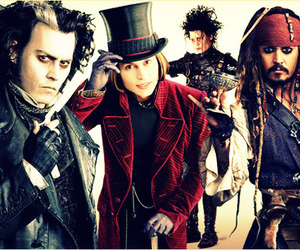 johnny depp, Willy Wonka, and sweeney todd image