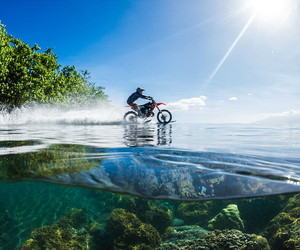 moto and water image
