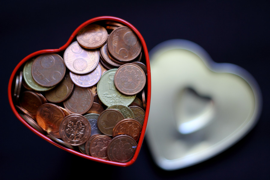 coin, heart, and money image