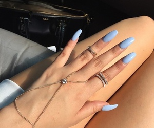 gold, nails, and blue image