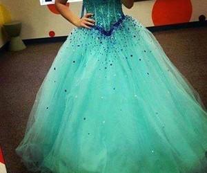 dress, beautiful, and blue image