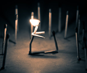 match, fire, and light image