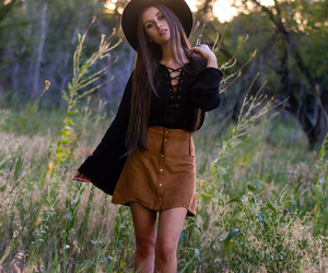 ankle boots, black hat, and charlotte russe image