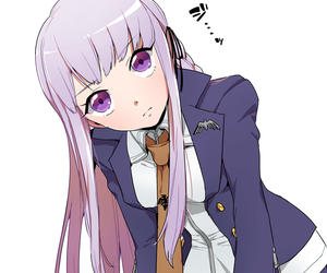 anime girl, purple hair, and dangan ronpa image