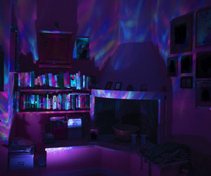 purple, room, and aesthetic image