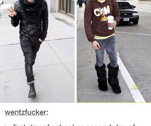 fall out boy, pete wentz, and school image