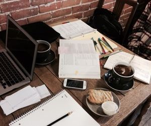 study, coffee, and college image
