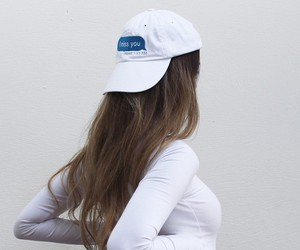 white, hair, and hat image
