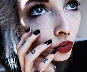 alt girl, dyed hair, and white hair image
