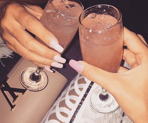 drink, nails, and luxury image