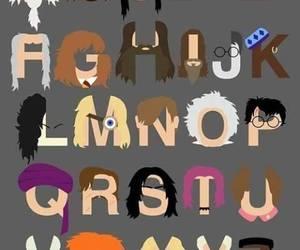 harry potter, alphabet, and potter image