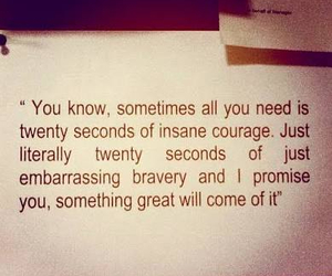 quote, courage, and insane image
