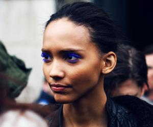 beauty, mascara, and black image
