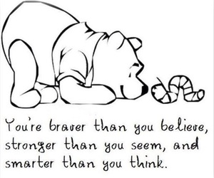 quote, brave, and strong image