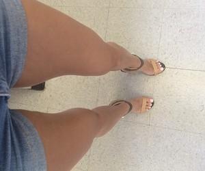 girl, legs, and heels image