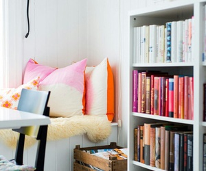 bedroom, book, and home image