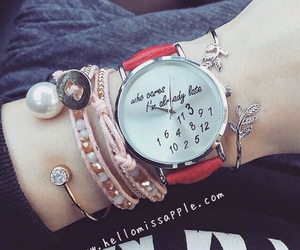 bracelets, girls, and watch image