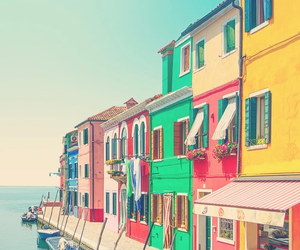 house, sea, and colorful image