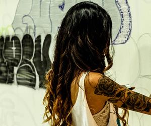 fashion, girl, and tatoo image