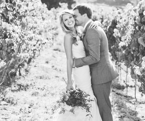 bride, couple, and wedding dress image