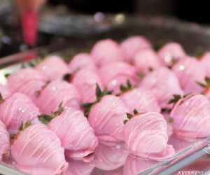 pink strawberries image