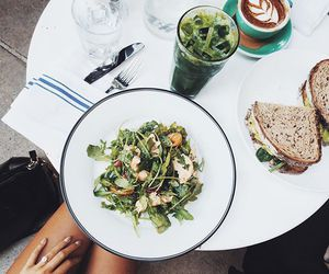 coffee, lunch, and salad image