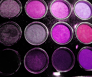 purple, pink, and makeup image
