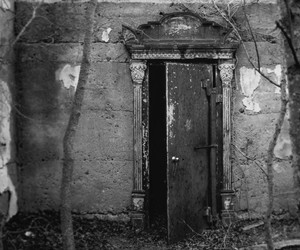 dark and door image