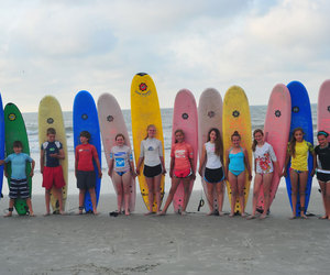 beach, kids, and surfing image
