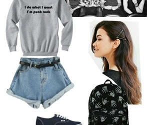 backpack, fashion, and hair image