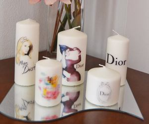 candles, dior, and fashion image