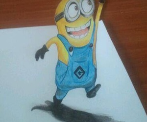 art, draw, and minion image