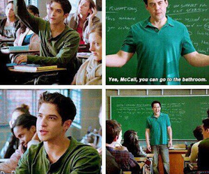 teen wolf, tyler posey, and coach image
